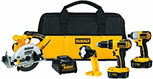 DEWALT DCK422KA 18-Volt NiCad Cordless 4-Tool Combo Kit with Impact Driver