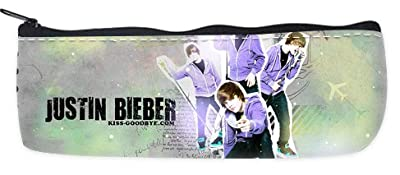 Justin Bieber Pencil Case School Pencil Case Cosmetic Makeup Bag Storage Student Stationery Zipper Wallet