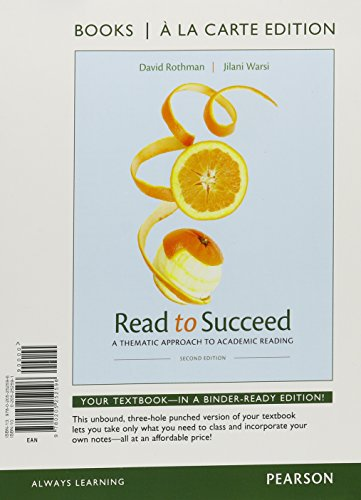 Read to Succeed: A Thematic Approach to Academic, Books a la Carte Plus MyReadingLab with eText -- Access Card Package (
