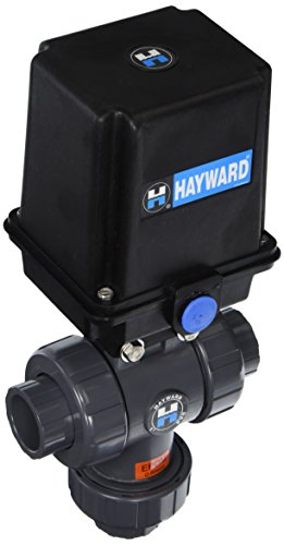 Hayward Eautn110Ste 1-Inch Eautn Series Actuated 3-Way True Union Ball Valve With Threaded Epdm Seal