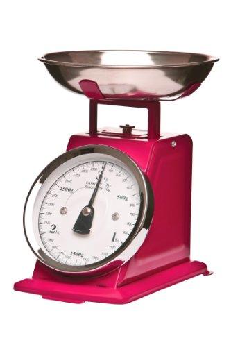 Premier Housewares Balance de cuisine mécanique Bol inox Rose 3 kg