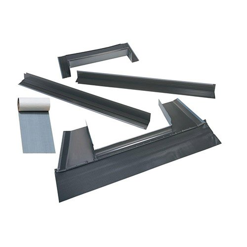 VELUX EDM M02 0000B Skylight Flashing, M02 Metal Roof Kit w/Adhesive Underlayment for Deck Mount Skylights