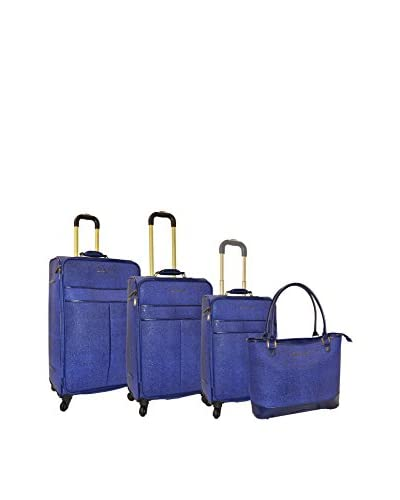 Adrienne Vittadini Stingray 4-Piece Luggage Set, Navy