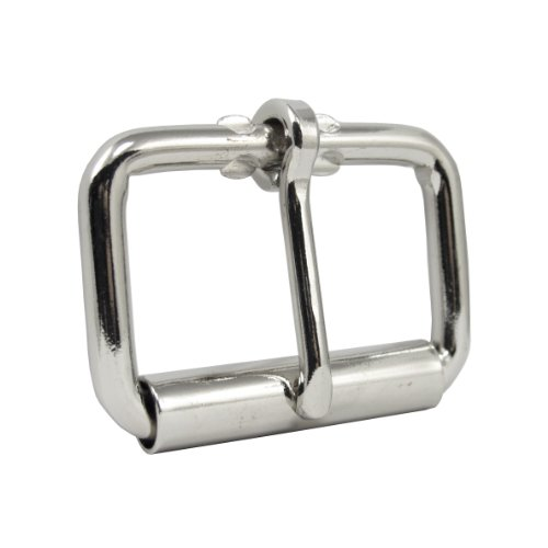 """Springfield Leather Company Nickel Plate 1 3/4"""" Roller Buckle"""