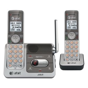 AT&T CL82201 Cordless Phone-DECT-Silver, 2 Handset-Answering Machine-Caller ID-Speakerphone-Backlight