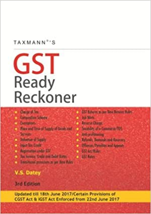 Taxmann's GST Ready Reckoner Updated till 18th June 2017