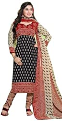 Exquisite & Beyond Womens Pure Cotton Printed Unstitched Salwar Suit _KT-19_Red