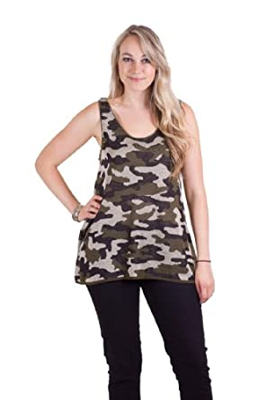 Camouflage Knit Tank Top Multi Plus Size XXX-Large