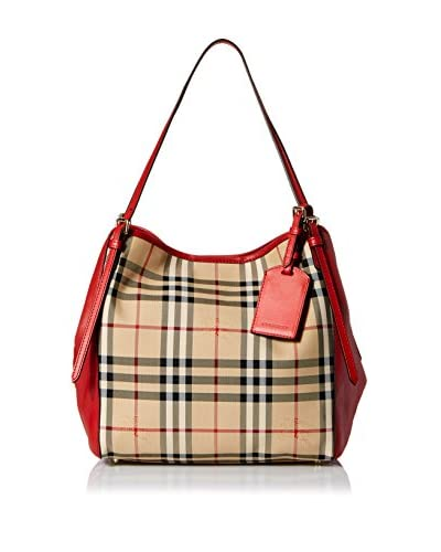 Burberry Women's Checked Shoulder Bag, Red