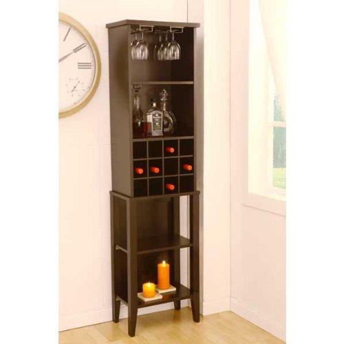 Wellsburg Espresso Finish Wine Bar Storage Cabinet front-573593