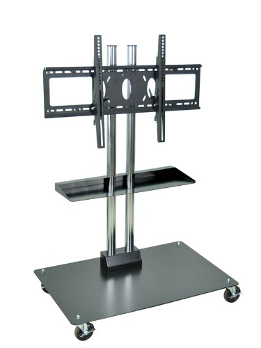 "45"" Universal Lcd / Flat Panel Stand With Wheels (Black / Chrome) (50""H X 27""W X 23.5""D)"
