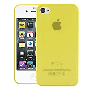 iPhone 4 Back cover, PP [0.35mm] Ultra-Thin / Slim [ Perfect Fit ] Thinnest Hard Protect Case Back Cover Bumper [ Semi-transparent ] Lightweight for Apple iPhone 4 (Yellow)