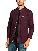 Pepe Jeans London Camisa Hombre New William (Burdeos)