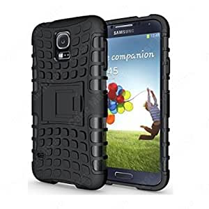 Carla Hard Dual Amor Hybrid Bumper back case with Flip Kick Stand for Samsung S5 by Carla Store.