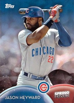 2016 Topps Spring Fever #SF-3 Jason Heyward Baseball Card - His 1st card in a Chicago Cubs uniform!
