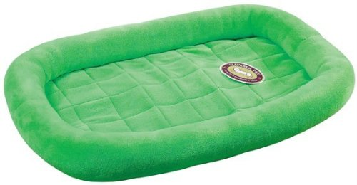 Slumber Pet Velvet Terry Crate Dog Bed, X-Large, Lime front-1035096