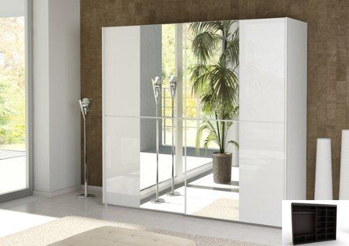 aduh pusink schwebet renschrank schrank mit spiegel 2 t rig weiss hochglanz. Black Bedroom Furniture Sets. Home Design Ideas
