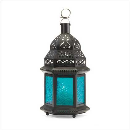 Blue Glass Moroccan-Style Lantern (SET OF 25)