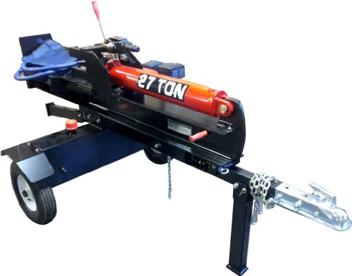 27 Ton Gas Powered Hydraulic Log Wood Splitter Cutter, 6.5HP 196cc Engine