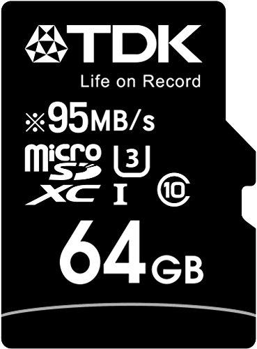 【Amazon.co.jp限定】TDK microSDXCカード 64GB UHS-1 U3対応 最大読込速度95MB/s,最大書込速度90MB/s 4K動画撮影 5年保証 フラストレーションフリーパッケージ (FFP) MCSDXC10UP-64G-FFP