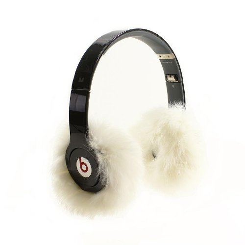 Earmuffies - Fur Earmuff Covers For Headphones - Large Rabbit White (Fits Beats Beats Studio/Executive And Other Popular Headphones)