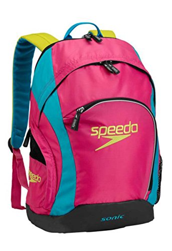 Speedo Sonic Backpack, Fuchsia Purple/Hawaiian