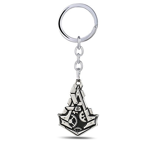 New Arrival Assassin's Creed Logo Metal Keychain Keyring Collection Gift A (Assassins Creed 2 Costume)