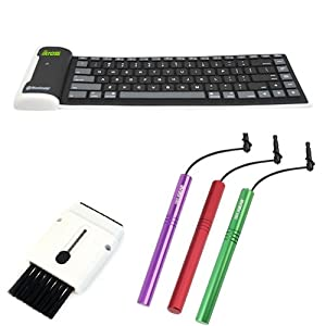 iKross Bluetooth Keyboard for Samsung ATIV Smart PC 500T / ATIV Smart PC Pro 700T Android Tablet [include 3 Stylus and Keyboard / screen Brush ]