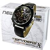 スパイダーズX 腕時計型カメラ 小型カメラ スパイカメラ (W-735) 革バンド