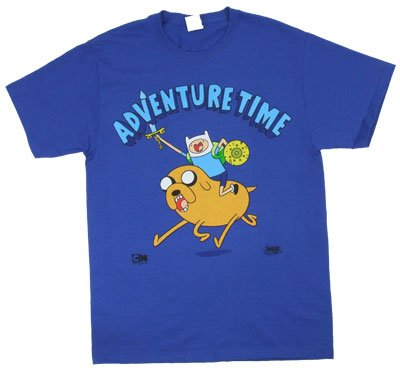 Adventure Time T-Shirt: Adult Small - Royal Blue