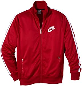Nike HBR Track Men's Tracksuit Top red Size:M: Amazon.co