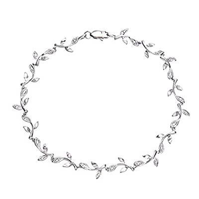 Ariel 0.1 Carat I Diamond Pave Setting Link Bracelet in 9ct White Gold