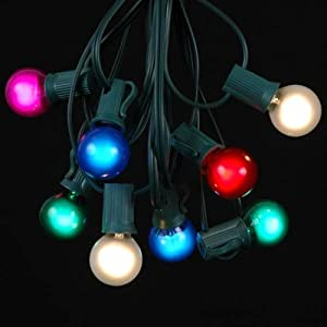 Christmas Novelty Lights Outdoor : Novelty Lights Inc. G30 Globe Outdoor Patio Christmas Light Party Light String Light Set Multi ...