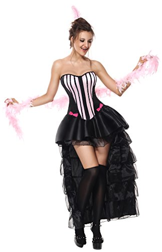 Sibeawen Women's Naughty In Paris Burlesque Dancing Costumes
