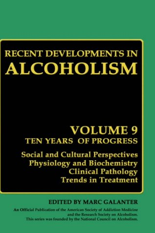 Recent Developments In Alcoholism: Volume 9: Children Of Alcoholics front-747914