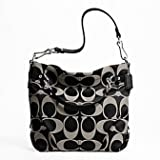 Coach Signature Brooke Carly Convertiable Hobo Purse Bag Tote 17183 Black Grey Review