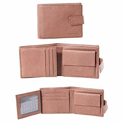 Saddler Leather Mens Six Credit Card With Wing Hip Wallet - Light Tan