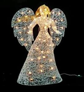 Northlight 48 in lighted elegant glittered for Angel outdoor decoration