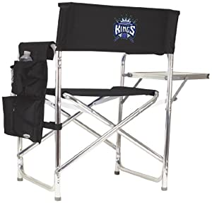 NBA Sacramento Kings Portable Folding Sports Chair, Black by Picnic Time