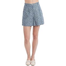SbuyS - Grey Ditsy Chambray Shorts