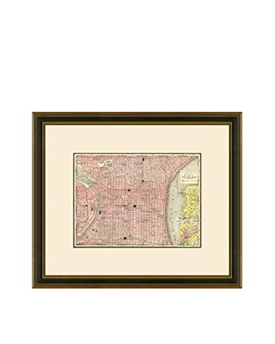 Antique Map of Philadelphia, 1886-1899
