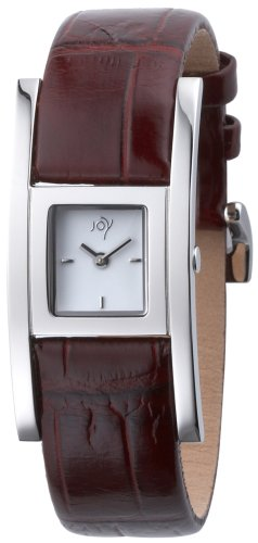 Joy By Joy JW512 Ladies Cuadrados Watch with Ice White Lacquered Dial and Genuine Leather Strap