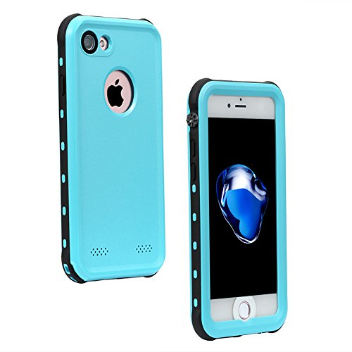 Nexgadget iPhone 7 Waterproof Case, CONQUEROR Series Drop-proof Dirtproof Snow-proof Protective Case Underwater IP68 Waterproof Case for iPhone 7 cover 4.7 Inch (blue) (Iphone 4 Lifeproof Case Blue compare prices)
