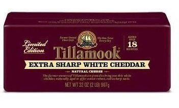 Tillamook Extra Sharp White Cheddar Cheese 2lb Loaf (Organic Cheese Block compare prices)