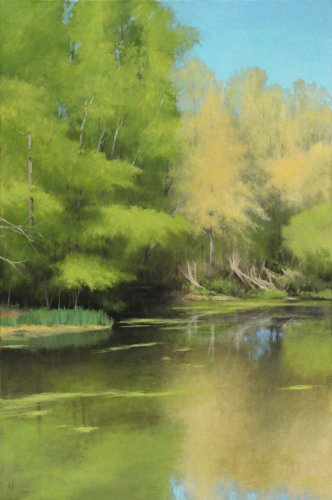 Green-and-Gold-Pond-Painting