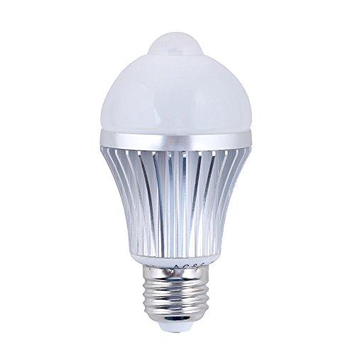 Daffodil LEB306 - LED Birne - Lampe mit Energieeffizienklasse A+ / 5W - Mit Bewegungssensor / Bewegungsmelder - Warmweiß - E27 Schraubung