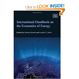 International Handbook on the Economics of Energy Joanne Evans, Lester C. Hunt