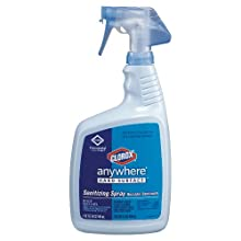 Clorox CLO 01698 32-Ounce Anywhere Hard Surface Sanitizing Spray Bottle (Case of 12)
