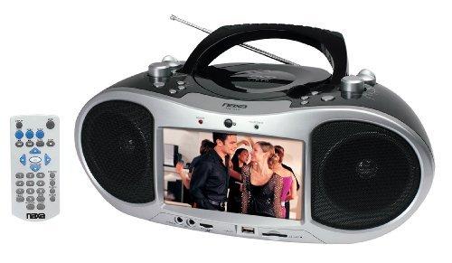 Naxa NDL-252 Portable DVD Boom Box With a built-in 7 LCD screen