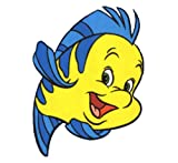 The Little Mermaid Flounder Wall Decal kids sticker cartoon 4 X 5